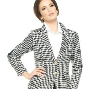 Joan rivers  houndstooth patch elbows Blazer